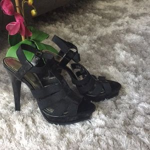 High heel sandals BCBG black